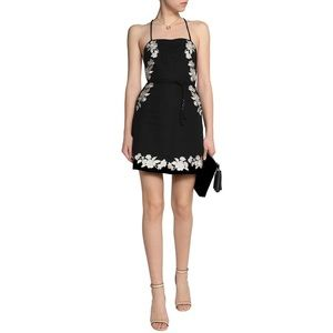 Zimmerman Black Linen Mini Dress with embelishment